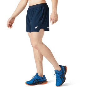 """asics Road 5"""" Shorts Hombre, french blue"""